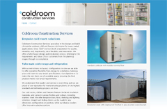 Coldroom Construction Services website