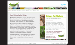 New Networks for Nature website